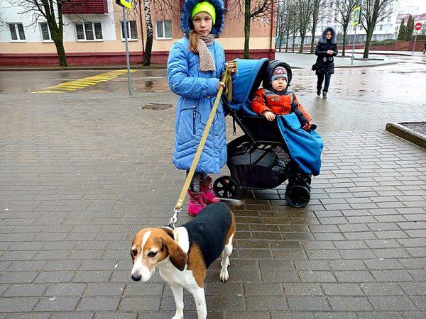 Эстонка с детьми